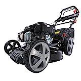 BRAST Benzin Rasenmäher 4 in 1 18196 4,4kW (6PS) incl. Selbstantrieb GT Markengetriebe kugelgelagerte Big-Wheeler-Räder Stahlblechgehäuse Easy Clean