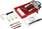 Werkzeyt Renovierungs-Set 17-teilig - Umfangreiche Werkzeuge & Hilfsmittel zum Renovieren & Streichen - Mit Farbwalzen,...