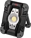 Brennenstuhl Akku LED Arbeitsstrahler ML CA 110 M / LED Baustrahler für außen 10W (Robuste LED Arbeitsleuchte Akku mit...