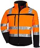 Nitras Motion Tex Viz 7170 Softshell-Warnschutzjacke - EN 20471 - Orange - XL