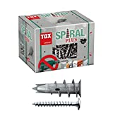 TOX Gipskartondübel Spiral Plus 37-2 mit Linsenkopfschraube 4,5 x 35 mm, für einlagige und doppelbeplankte...