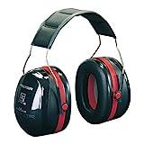 3M Peltor Optime III Kapselgehörschutz schwarz-rot - Größenverstellbare Ohrenschützer mit Doppelschalentechnologie...