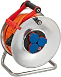 Brennenstuhl Garant S IP44 Kabeltrommel (40m Kabel in orange, Kabeltrommel Outdoor mit Trommelkörper aus Stahlblech,...