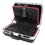 STIER Werkzeugkoffer Basic leer, ABS-Kunststoff Kofferschale, schwarze Werkzeugkiste, stabil & schlagfest, Tragkraft 15...