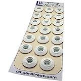 """Langard Ösen """"Snap 'n' Tap"""" (einfaches Anbringen) 12mm, Weiß, 20 Stück"""