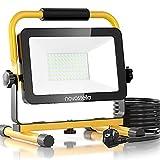 Novostella LED Baustrahler 60W 6000LM (Ersetzt 450W) LED Arbeitsscheinwerfer Baulampe, IP65 Wasserdicht 3030 LED 5M...