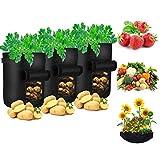 Pflanzsack, Zilong 3 Gallon Vliesstoff Pflanzbeutel mit Henkeln für Kartoffeln, tomaten, Gemüse, Kräute, 25*20cm,5 Stück