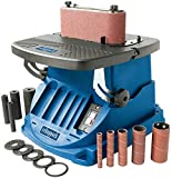 Scheppach oszillierender Spindelschleifer OSM600 (Spindelschleifmaschine mit 450 Watt, neigbar bis 45°, Alu-Tisch,...
