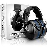 SCHALLWERK ® - Work+ Arbeitsgehörschutz – Größenverstellbare Kapselgehörschützer - Dämpft Lärm & schützt...