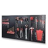 FIXKIT Werkzeuglochwand aus Metall, inkl. 15-teiliges Werkzeughalter-Set 120 x 60 x 2 cm, Werkzeugwand Lochwand für...