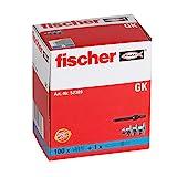 fischer Gipskartondübel GK, starker Gipskarton-Dübel, selbstschneidendes Gewinde, einfache Montage in Gipskarton,...