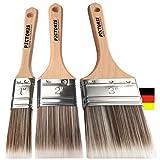 PICTORIS Lackierpinsel 3er Set Premium | 100% Made in Germany | 3 handgefertigte Malerpinsel für Profis | Soft-Touch...