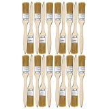 Farbpinsel, Lackierpinsel Set 20er, Malerpinsel mit Holzgriff, 1'(2,5cm) Pinselset mit Holzgriff Ideal für Wand- und...