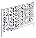 Element System Werkzeuglochwand aus Metall plus 19 teilig Werkzeughalterset inklusive Schrauben und Dübel, Werkzeugwand...