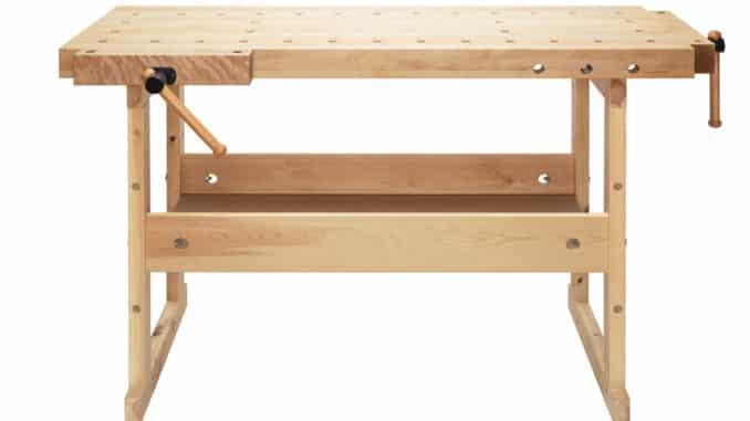 Werkbank aus Holz